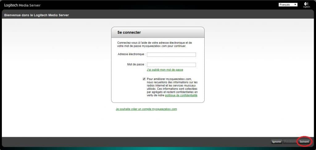 logitech media server installer