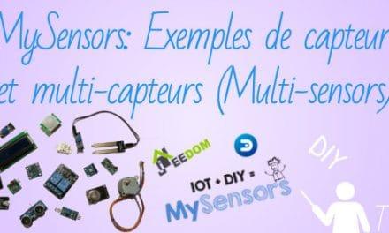 MySensors: Exemples de capteurs et multi-capteurs (Multi-sensors)
